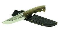 Нож для охотника, рыбака, туриста, Спутник 16, необходимый девайс, в кожаных ножнах