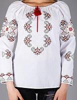 Красивая женская блуза с вышитым орнаментом золотистыми нитками, фото 1