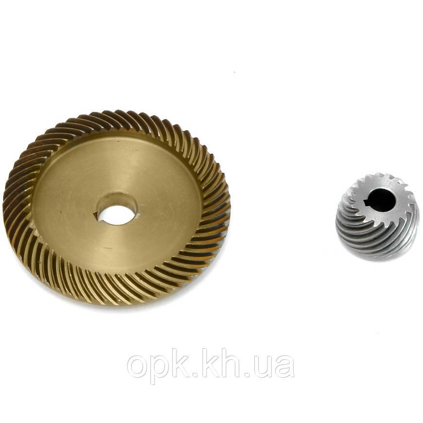✅ Пара шестерни металлической на электропилу цепную (зубьев 55 шт, наружный Ø 83 мм, внутренний Ø 14 мм) Зенит