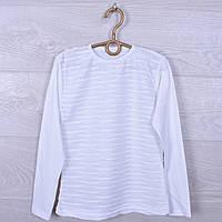 """Школьная блузка-водолазка """"Люрекс"""" для девочек. #442. 6-12  лет. Белая. Оптом, фото 1"""
