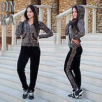 Леопардовые велюровый костюм 775 (ВИВ)