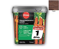 Лазурь-лак акриловый ALTAX LASUR ШВИДКОВИСИХАЮЧА для древесины орех, 0,75л