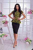 Женский стильный костюм юбка и баска