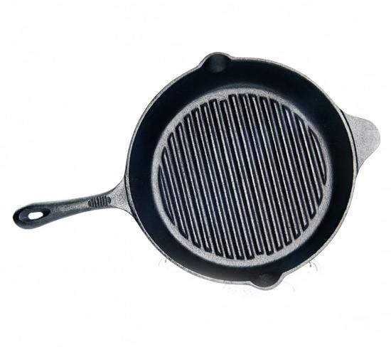 Сковорода-гриль 30х6.0см чугунная Fissman