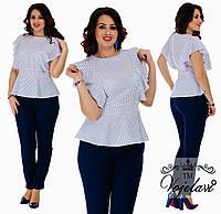Костюм двойка (блузка, брюки) белый 4 цвета, р-ры от 42 до 54
