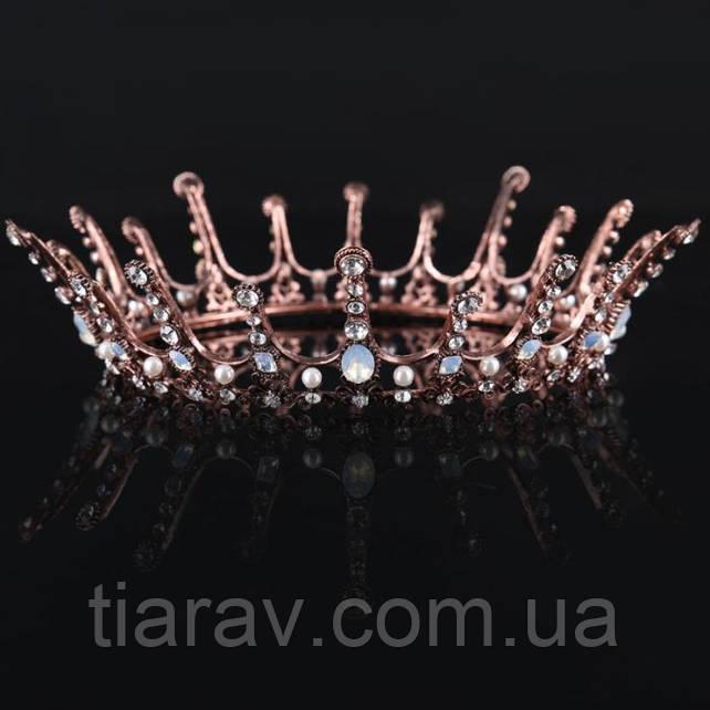 Корона на голову БЕРТА Тиара Виктория круглая корона шикарная украшения модные