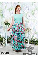 Штапельное женское платье в пол 48-54, доставка по Украине