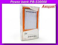 Внешний аккумулятор (power bank) Solar 30000мАч (6000мАч) PB-S30000!Акция