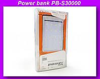 Внешний аккумулятор (power bank) Solar 30000мАч (6000мАч) PB-S30000!Опт