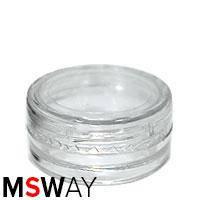 Тара для декора пластик - баночка-закрутка малая круглая прозрачная 38967