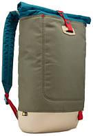 Городской рюкзак с отделением для ноутбука CASE LOGIC Larimer Rolltop LARI114 (PetrolGreen)