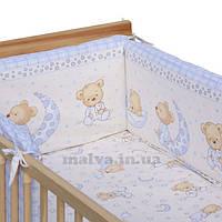 Защитные бортики в кроватку «Сладкий сон» бежевый