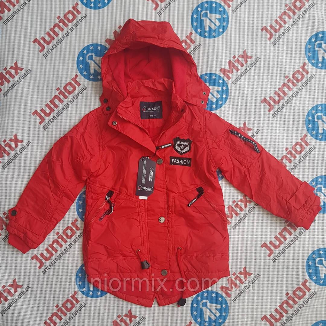 Демисезонные детские куртки для мальчиков  на флисе  GRACE