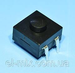 Кнопка з фіксацією 12*12*6,6(корпус)мм #213BS 3pin OFF-ON-ON, Китай