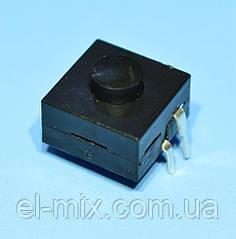 Кнопка з фіксацією 12х12х6,6(корпус)мм #214A 4pin OFF-ON-ON, Китай