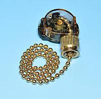 Выключатель-цепочка 3A 250V, цвет медь PRK0086