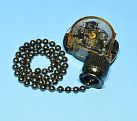 Выключатель-цепочка 3A 250V, цвет графит PRK0087