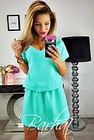 Модное яркое легкое летнее свободное платье в расцветках