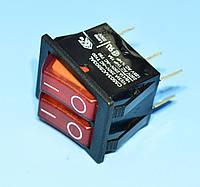 Выключатель 220В AE-C5503TALNAC (IRS-2101) красный 2*1-группа ON-OFF  Arcolectric