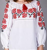 Женская блуза с вышивкой ,выполненой на тонком батисте, фото 1