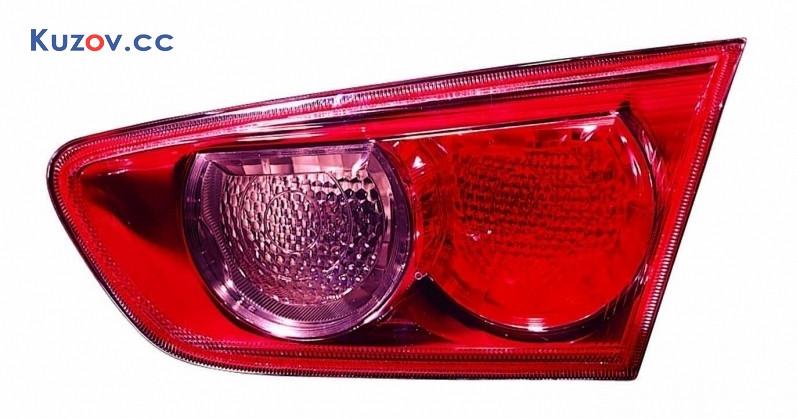 Фонарь задний Mitsubishi Lancer X (10) 07- правый (Depo) внутренний, красный 214-1324R-LD-UE