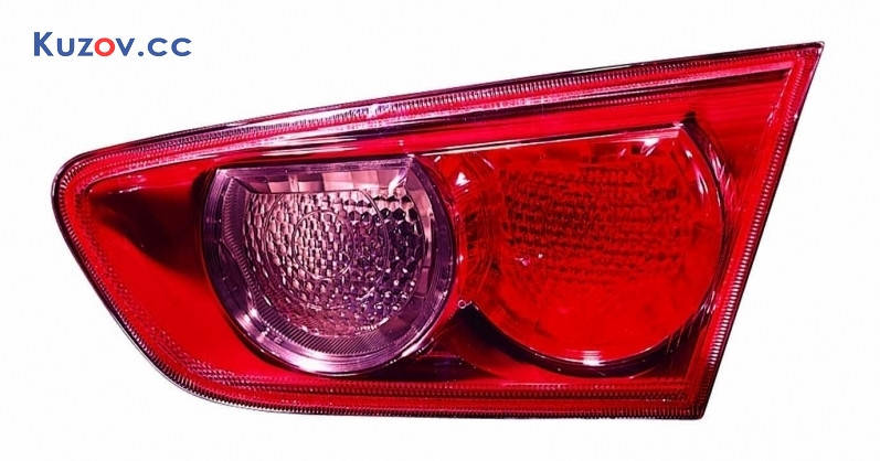 Фонарь задний Mitsubishi Lancer X (10) 07- правый (Depo) внутренний, красный 214-1324R-LD-UE, фото 2