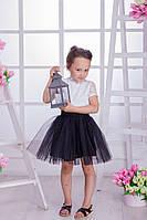 Костюм блуза с набивным кружевом+юбка фатин 3530/34 (НАТ) Детский