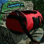 Сумка для спорта унисекс, 26*50*26 см, красн, фото 2