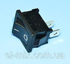 Выключатель без фиксации R13-66F-02-BB-2D (MRS-101) 1-группа OFF-(ON), черный  SCI