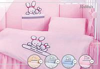 """Дитяча постіль для ліжка з бортиками """"Tuttolina"""" Rabbits"""