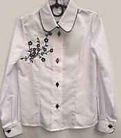 Школьная блуза с вышивкой для девочки 0107/23