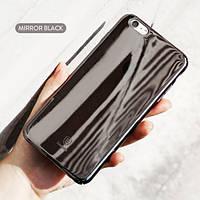 """Пластиковая накладка Baseus Glass Case для Apple iPhone 6/6s (4.7"""") Черный Mirror"""