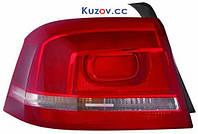 Фонарь задний Volkswagen Passat B7 '10-14 правый (DEPO) дымчатая полоска 3AE945096D