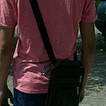 Сумка чоловіча Jak, 22*20*5 см, чорний, фото 7