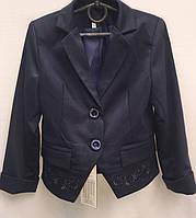 Пиджак школьный с вышивкой для девочки  0107/32
