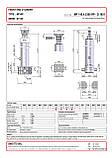 Гидроцилиндр с шарниром и кронштейном Binotto MF 145-4-5300 RP (фронтальный), фото 2