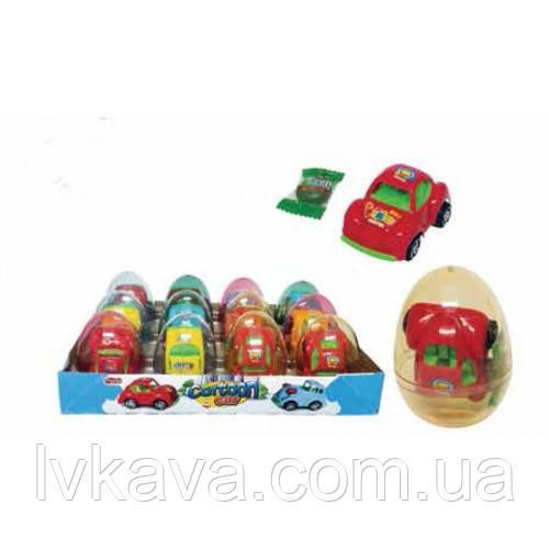 Яйцо-игрушка Prestige Eggs Cartoon Car 6g X 12 шт