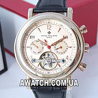Мужские механические наручные часы Patek Philippe geneve Tourbillon BASE 1000 gold