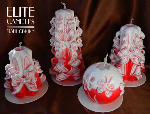 Венецианские резные свечи ручной работы.