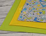 Бязь с зелёными и голубыми жирафами на сером фоне (№ 825), фото 4