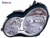 Фара передняя для Mercedes C-Class W203 '00-07 правая (DEPO) электрич., прозрачн. рассеиватель, H7+H7