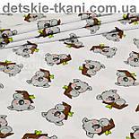 Бязь с серыми мишками коала на веточке дерева (№ 828а), фото 4