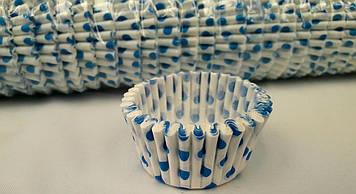 Бумажные формочки для кексов в горошек 1000 шт.