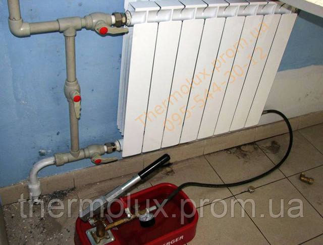 Фотография установки радиатора Алтермо РЛБ