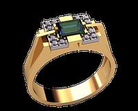 Мужское золотое кольцо Крестовый поход