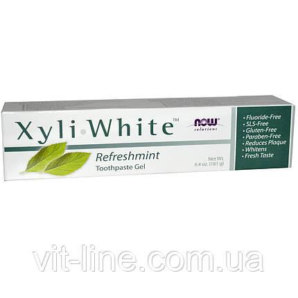 Now Foods, Now Foods, Solutions, Гель-паста Xyli-White с ароматом свежей мяты (181 г), фото 2