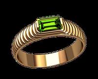 Мужское золотое кольцо Змеиный глаз