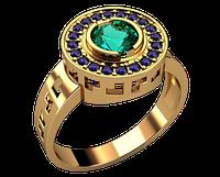Мужское золотое кольцо Юпитер
