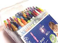 Набор восковых мелков 48цв. в пластиковом пенале, фото 1