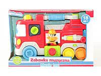 """Детская музыкальная игрушка Baby Mix """"Пожарная машинка"""" (PL-345823)"""